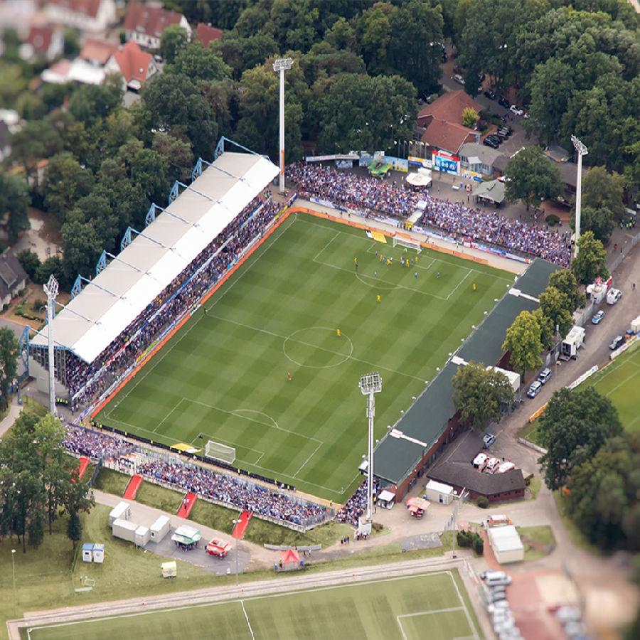 Luftbildaufnahe des SV Meppen Stadion