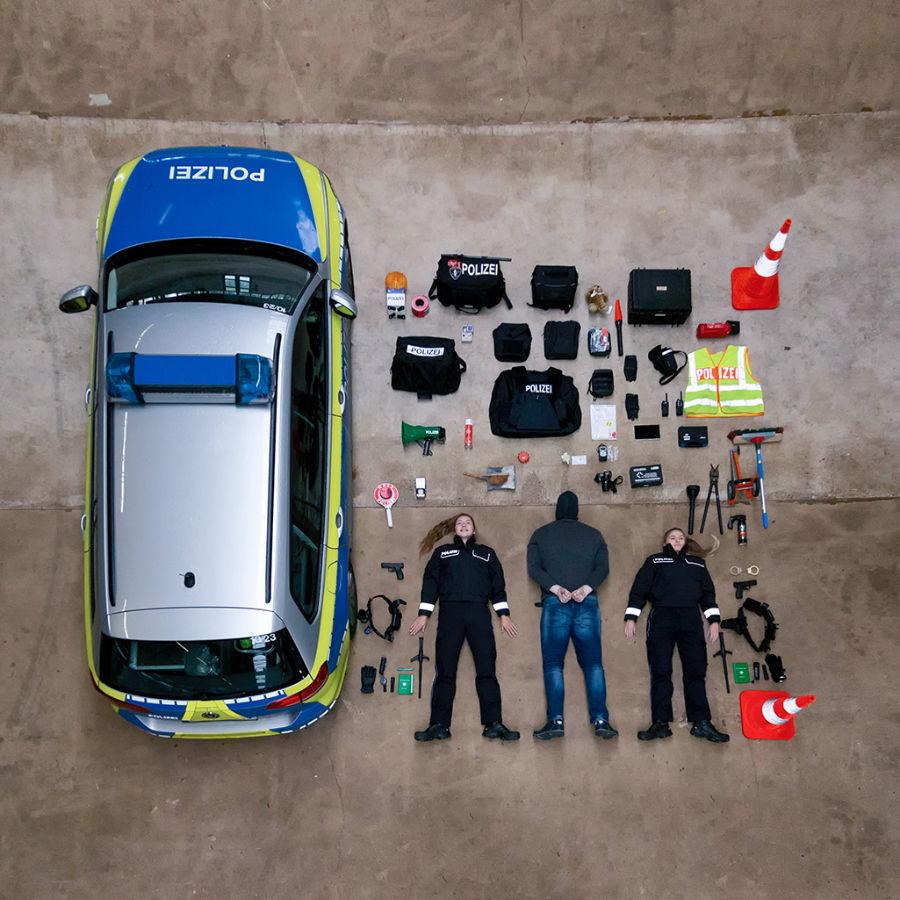 Öffentlichkeitsarbeit der Polizei Emsland bei der Tetris Challenge