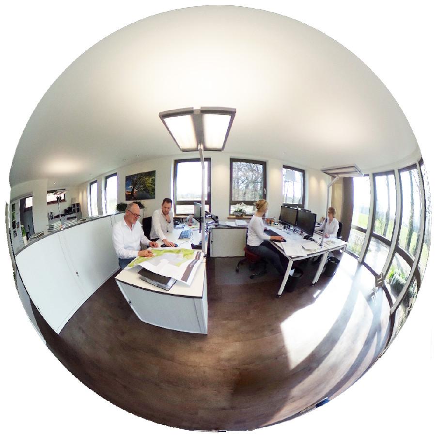 360° Fotografie zeigt einen Büroraum