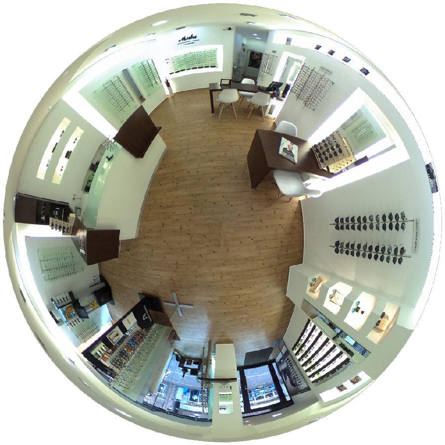 360° Fotografie zeigt ein Ladenlokal